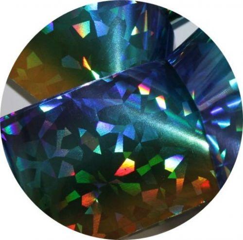 Фольга для литья и кракелюра Royal (2) холодный радужный голографический ромб