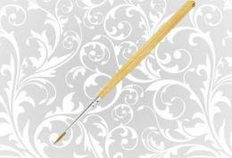 Кисть Колонок НП Сонет круглая длинная ручка пропитанная лаком №1